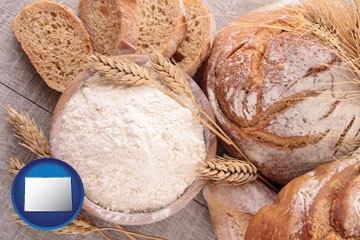 baked bakery bread - with Colorado icon