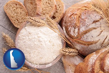 baked bakery bread - with Delaware icon