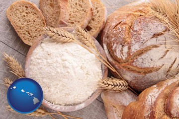 baked bakery bread - with Hawaii icon