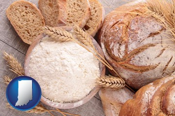 baked bakery bread - with Indiana icon