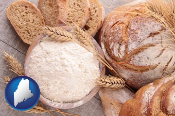 baked bakery bread - with Maine icon