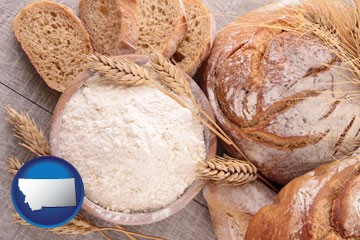 baked bakery bread - with Montana icon