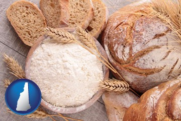 baked bakery bread - with New Hampshire icon