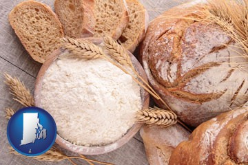 baked bakery bread - with Rhode Island icon