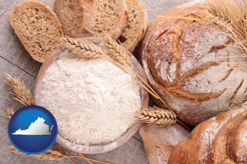 baked bakery bread - with Virginia icon