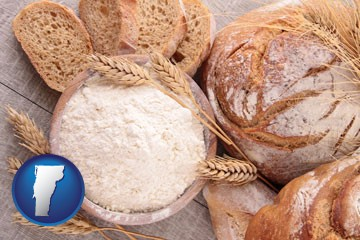 baked bakery bread - with Vermont icon